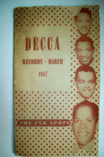 1947 Decca Records Catalog-Ink Spots, Bing Crosby, Andrews Sisters, Guy Lombardo