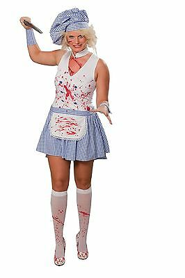 IAL Damen o Herren Karneval Halloween Kostüm Horror Koch Köchin (Partner Halloween Kostüme)