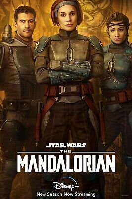 The Mandalorian Season 2 TV Poster (24x36) - Katee Sackhoff, Sasha Banks v9