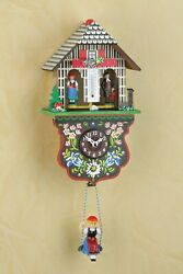 German Black Forest Weather House Cuckoo Clock- Quartz movement,cuckoo call