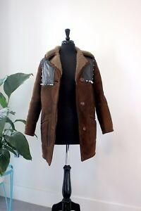 The Ragged Priest Stud brown Sheepskin Coat