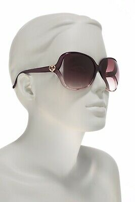 New Gucci GG0506S 010 Bordeaux/Brown 60mm Oversized Square Women's Sunglasses