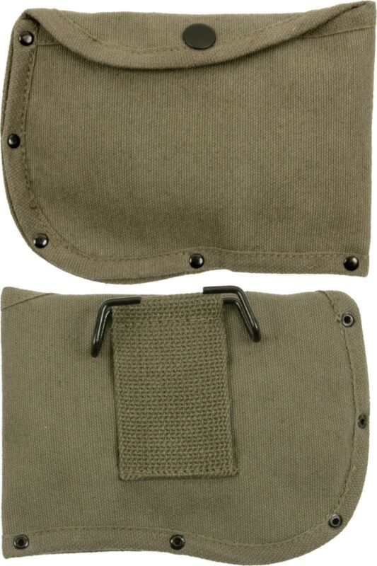 """Olive Drab Canvas 6"""" Axe Sheath with Belt Loop"""