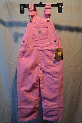 Carhartt Pink Bib Overalls Infant/Toddler/Kids Sizes CM9626 NWT (Bib Overalls Pink)