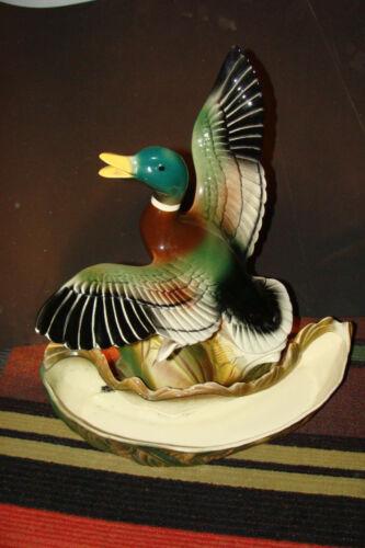 Vintage Mid-Century Ceramic Mallard Duck TV Lamp Lane & Co LA Calif 1954 Planter