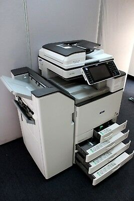 Ricoh Savin MP C3003 Color Multi-function Laser Copier Printer Scanner Finisher