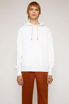NWT ACNE STUDIOS Reverse-Label Hooded Sweatshirt - Optic White - Medium - R $430