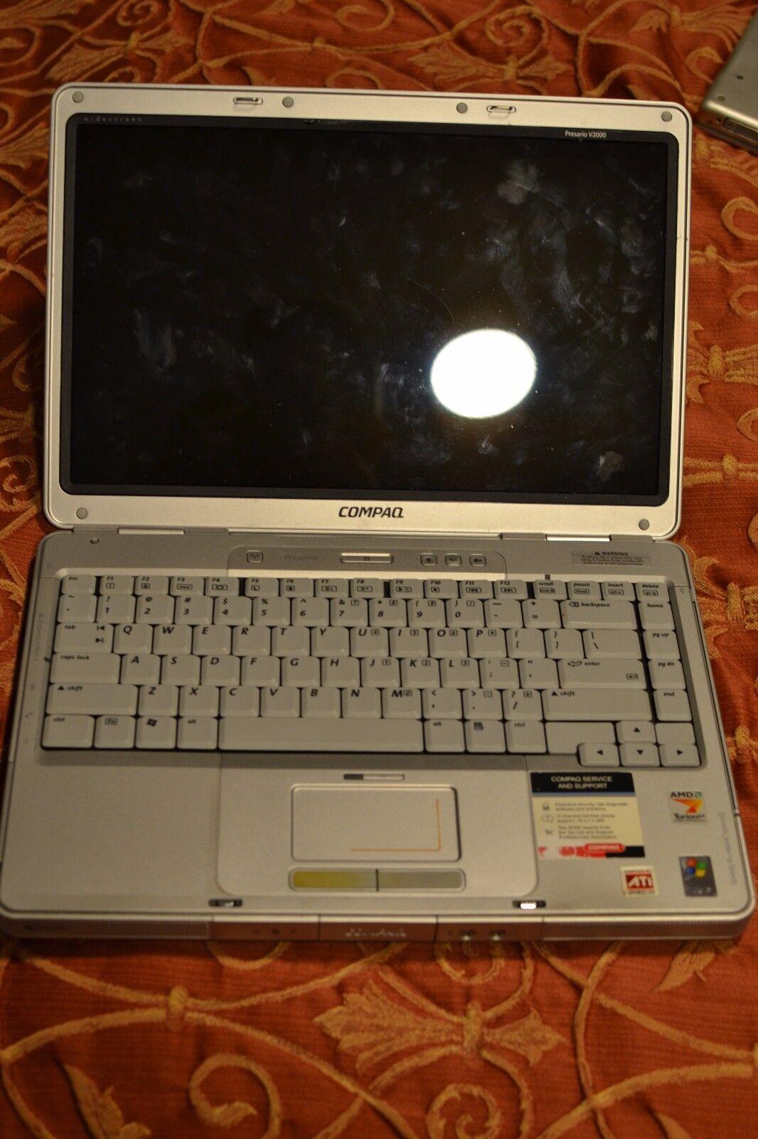 "Compaq Presario 14"" V2000 Celeron M 1 4GHz/60Gb/1Gb/CDRW/DVD/XP Home SP3 TESTED"