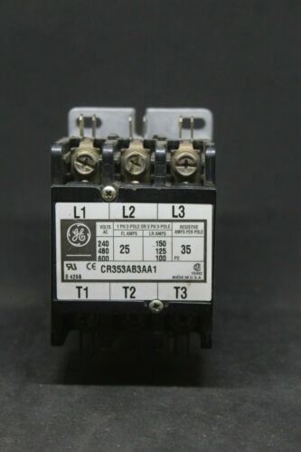 GE Contactor CR353AB3AA1 25A 600V 120V Coil Used Very Little