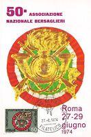 Cartolina - Maximum - Bersaglieri - 50° Associazione Nazionale - Roma - 1974 -  - ebay.it