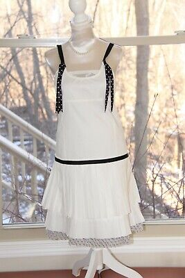 ❤️ Girls MISS GRANT Couture White Layered Ruffle Pleated Dress; Size 38