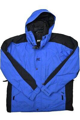 Helly Hansen Mens Coat Size L Blue Ski Snowboard Equipe Jacket Nylon Tech