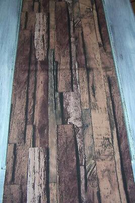 Tischläufer Rustikal Impressionen ca160x40 cm Holzoptik Holzpanel Rotbraun Brett