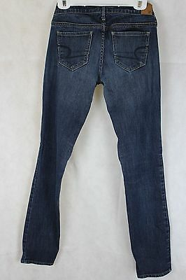 EUC Women's American Eagle Stretch Skinny Dark Wash Jeans size 4