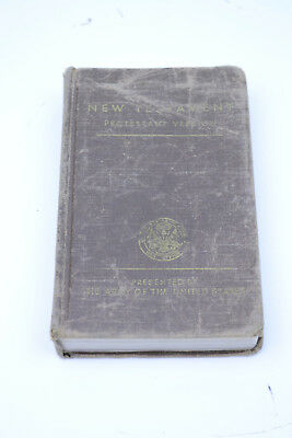 WWII US Army New Testament Protestant Version Wounded Vet 1941