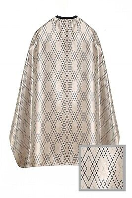 Barber Shop Cape Gown Gold Design For Salons Hairdressers Stylists Capes