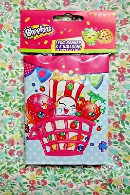 Foil Shopkins Happy Birthday Latex Balloons Party Banner Set - Cookie D'Lish  Happy Birthday Cookies