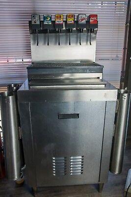 Imi Cornelius Cb2323sl6 Commercial 6 Flavor Beverage Dispenser With Ice Bin