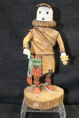 "Beautifull Hopi Kachina figure ""Eototo""Cottonwood. Handmade.7"" Tino Youvella"