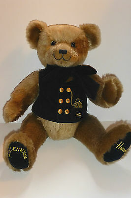 "HARROD'S 2000 MILLENIUM 17"" TEDDY BEAR. PRISTINE CONDITION."
