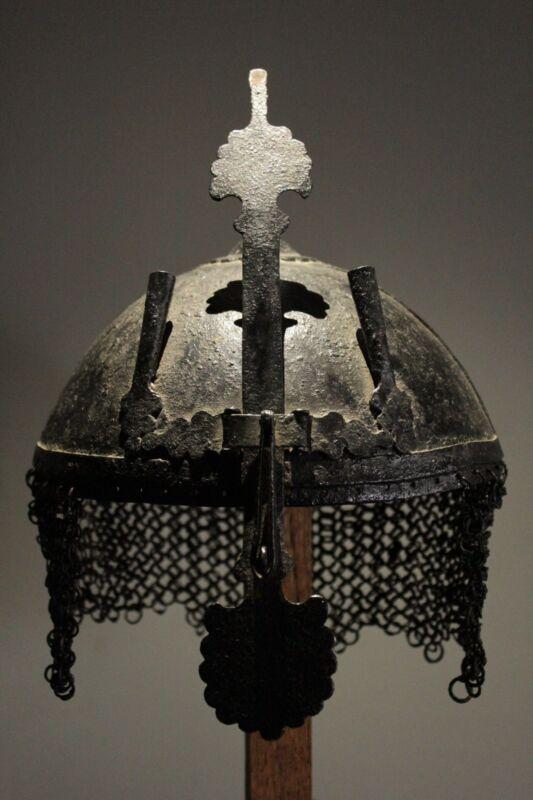 ISLAMIC INDO-PERSIAN STEEL KULAH-KHUD 1800