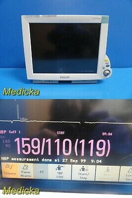 Philips Intellivue MP60 (M8005A) Monitor W/O MMS Module OR Leads *TESTED* ~21573