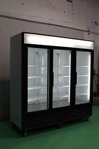TRUE GDM 72 & 72F THREE GLASS DOOR COOLERS & FREEZERS