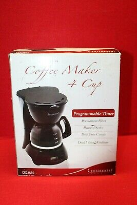 *New* CONTINENTAL Electric 4-Cup Digital COFFEE MAKER  Permanent Filter ce23669 Digital Filter Coffee Maker