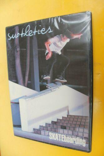 SUBTLETIES Transworld Brandon Bieble Pat Duffy Skateboarding DVD - New Sealed