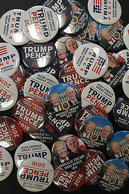 Donald Trump Mike Pence 2016 Huge Assortment 50 Campaign Buttons Free Shipping