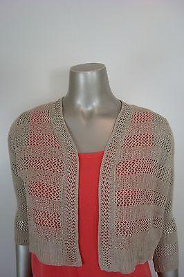 Charter Club Women s Petite Loose Knitted Shrug Cardigan Light Brown PP 0c7e03b2a