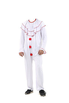 White Boys Scary Clown Costume Kids Halloween Fancy Dress Party Childrens Outfit