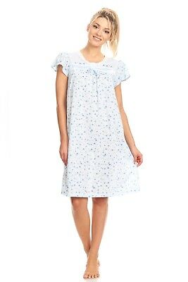 0035 Women Pajamas Night Gown Sleepwear Night Shirt