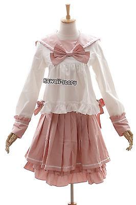 JL-601 Miku Schuluniform Bluse Panty-Rock rosa Sailor Lolita Harajuku Kostüm