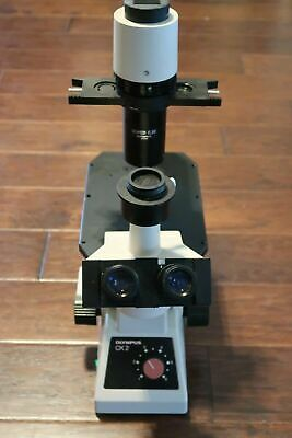 Olympus Ck2 Inverted Phase Microscope Trinocular 4x 10x Objectives