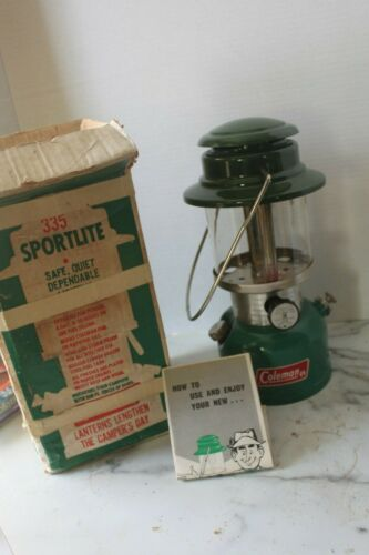 COLEMAN 335 LANTERN JANUARY 1976 *EXCELLENT WITH BOX AND INSTRUCTIONS* CANADA