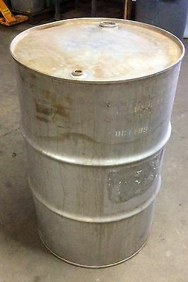 Stainless Steel Drum 55 Gallon Heavy Duty Closed Top Barrel Excellent Condition