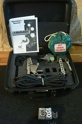Mcelroy Model 1lc Fusion Welder Set With 3 Inserts Clean