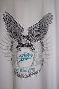 RACQUETBALL DRY FIT LPRT USAR T SHIRT in White / Turquoise  by A-4 Mens size L