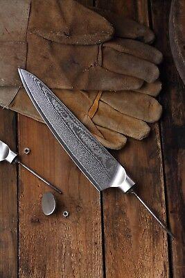 KATSURA Damascus AUS 10 woodworker Gyuto Chef's knife kit blank 8 inch-No logo