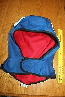 Flash Tex Blue Red Winterliner Hood Style 695 Nomex Proban Flame Resistant Hat