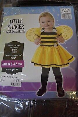 Infant Little Stinger Bee Baby Girl Toddler 6-12 months  Costume Halloween NIP - Baby Girl Bee Costume