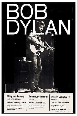 Bob Dylan at Berkeley, San Francisco & San Jose Concert Poster 1965