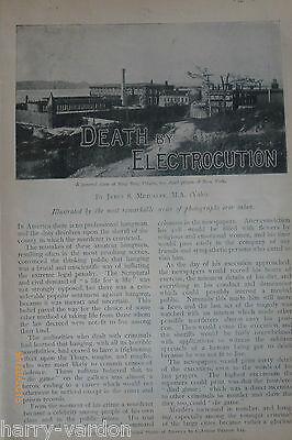 Death Execution Sing Sing Prison New York Murder Mayhew Electric Chair Rare 1898