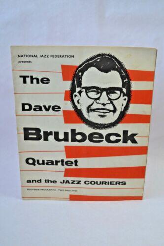 The Dave Brubeck Quartet 1957 Original Tour Concert Programme Jazz Interest