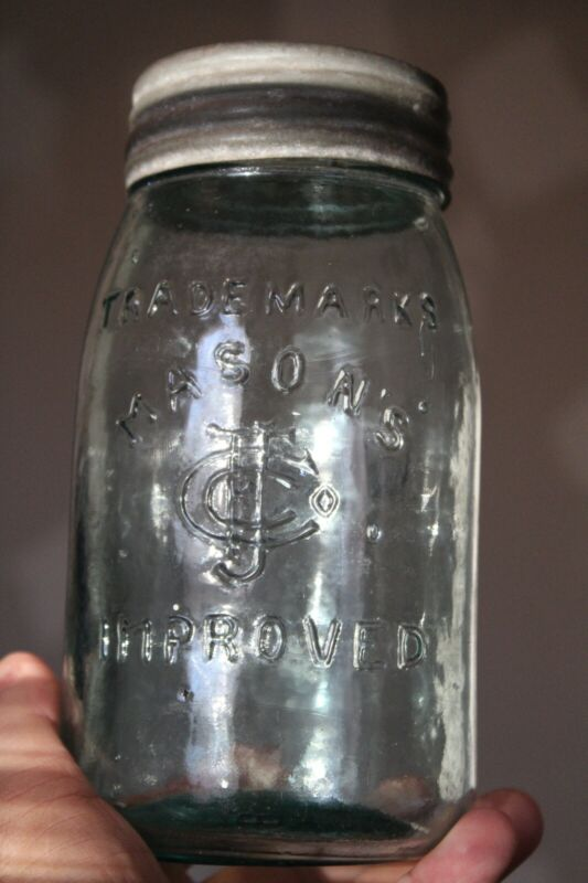 Antique 1qt Blue, Trade Marks, CFJ Mason