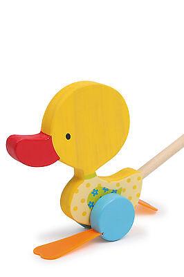 Watschel-Ente Tine aus Holz Schiebefigur Schiebespielzeug Schiebetier für Kinder