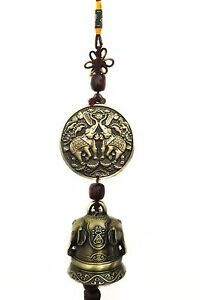 Feng shui lucky elephant wind chime hanging ornament for Decoration feng shui chambre