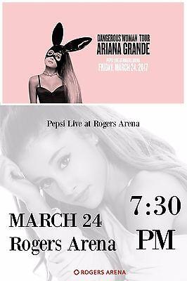 Ariana Grande  Dangerous Woman Tour  2017 Vancouver  Canada Concert Poster