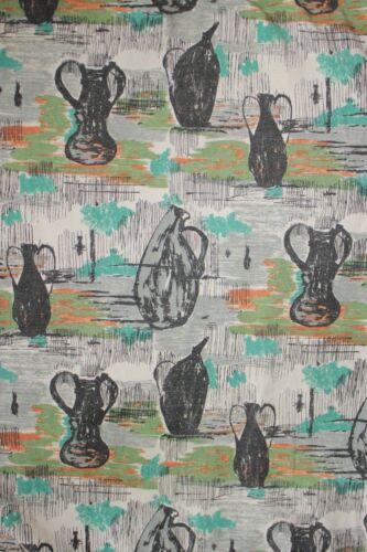 Vintage Fabric mid century modern design material 1950